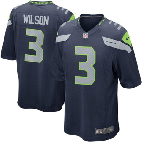 Russell Wilson Seattle Seahawks Nike Game Jersey College Navy