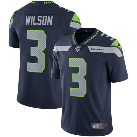 Russell Wilson Seattle Seahawks Nike NFL 100 Vapor Limited Jersey College Navy