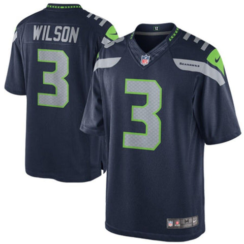 Russell Wilson Seattle Seahawks Nike Team Color Limited Jersey College Navy