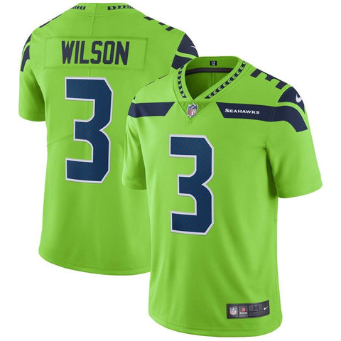 Russell Wilson Seattle Seahawks Nike Vapor Untouchable Color Rush Limited Player Jersey Neon Green