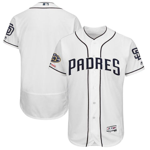 SanDiegoPadres Majestic 50th Anniversary Home Flex Base Team Jersey White