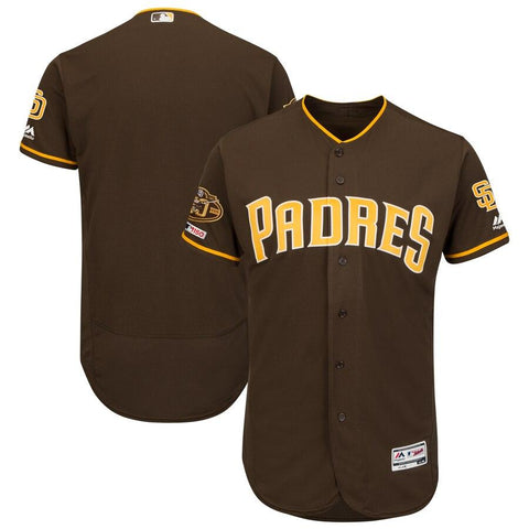 SanDiegoPadres Majestic Alternate 50th Anniversary Flex Base Authentic Collection Team Jersey Brown
