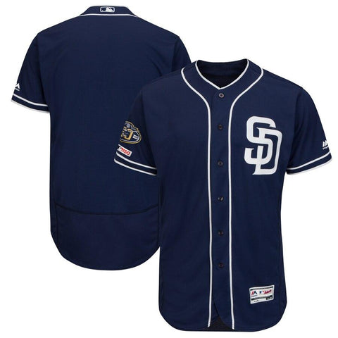 SanDiegoPadres Majestic Alternate 50th Anniversary Flex Base Authentic Collection Team Jersey Navy