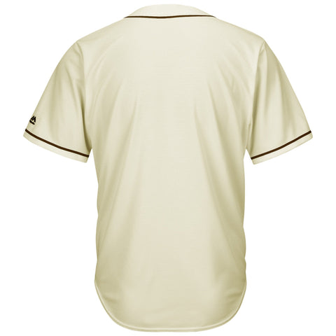 SanDiego Padres Majestic Cool Base Ivory Fashion Team Jersey Cream