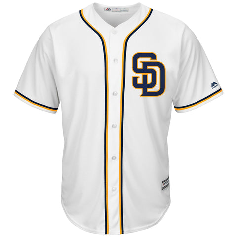 SanDiego Padres Majestic Official Cool Base Jersey WhiteNavy