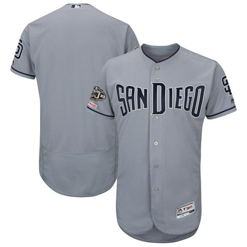 SanDiegoPadres Majestic Road 50th Anniversary Flex Base Authentic Collection Team Jersey Gray
