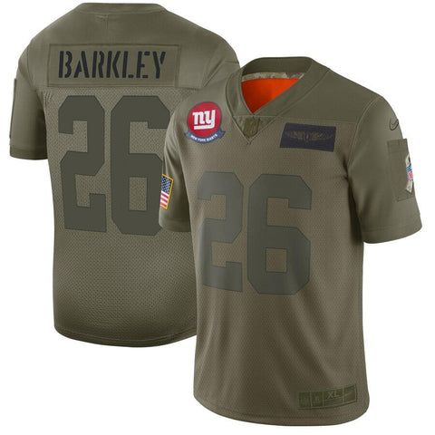 Saquon Barkley New York Giants Nike 2019 Salute to Service Limited Jersey Olive