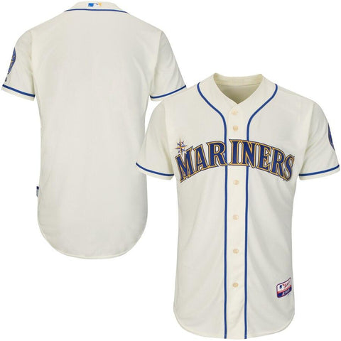 SeattleMariners Majestic Team Authentic Jersey Cream