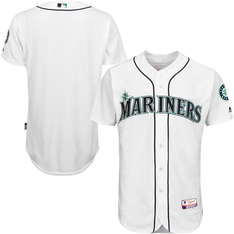 SeattleMariners Majestic Team Authentic Jersey White