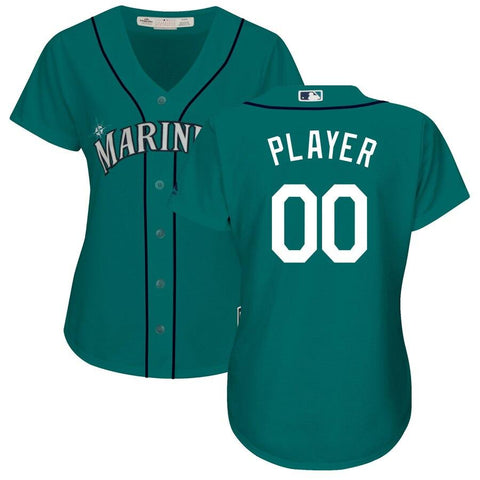 SeattleMariners Majestic Women's Cool Base Alternate Jersey Green