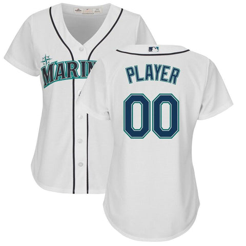 SeattleMariners Majestic Women's Cool Base Custom Jersey White