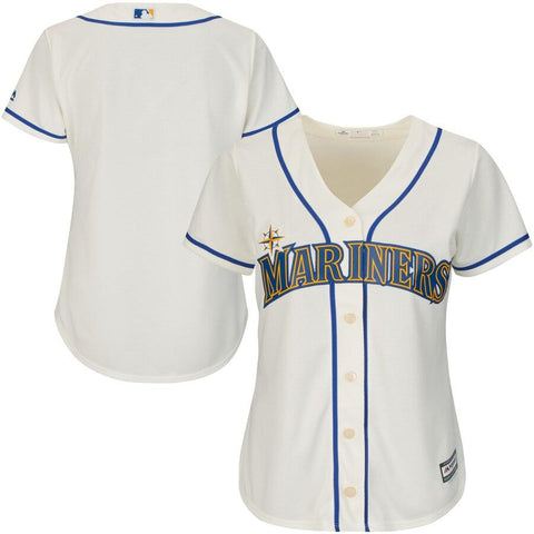 SeattleMariners Majestic Women's Cool Base Jersey Cream