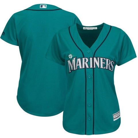 SeattleMariners Majestic Women's Cool Base Jersey Northwest Green