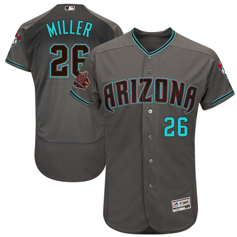 Shelby Miller Arizona Diamondbacks Alternate 20th Anniversary Base Player Jersey GrayTeal