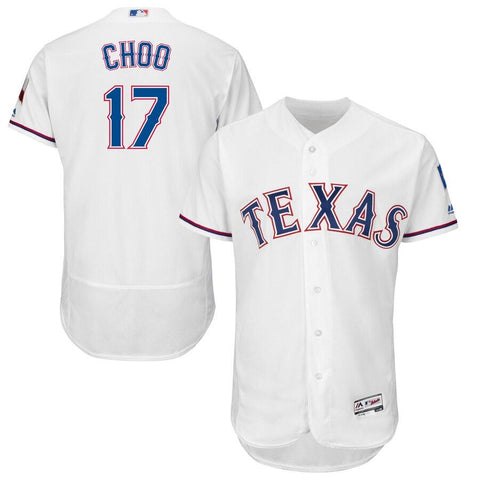 Shin-Soo Choo Texas Rangers Majestic Home Flex Base Authentic Collection Player Jersey White