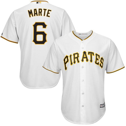 Starling Marte Pittsburgh Pirates Majestic Cool Base Player Jersey White