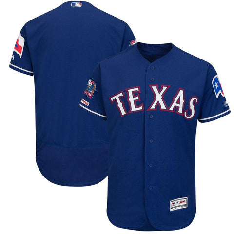 TexasRangers Majestic Alternate Final Season Stadium Patch Authentic Collection Flex Base Team Jersey Royal