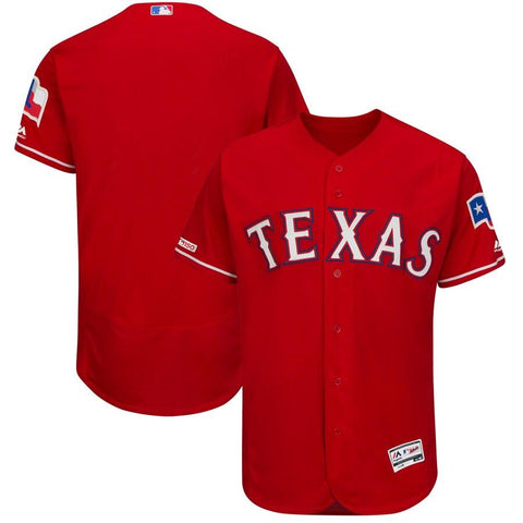 TexasRangers Majestic Alternate Flex Base Authentic Collection Team Jersey Scarlet