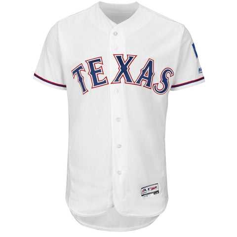 TexasRangers Majestic Home Flex Base Authentic Collection Team Jersey White