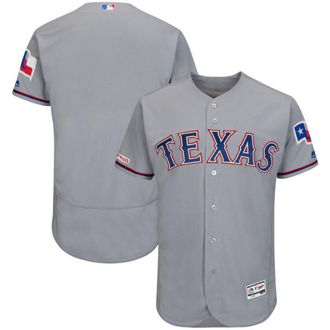 TexasRangers Majestic Road Flex Base Authentic Collection Team Jersey Gray