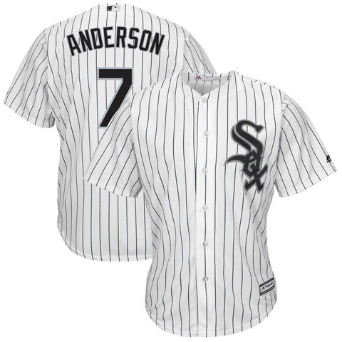 Tim Anderson Chicago White Sox Majestic Home Cool Base Replica Player Jersey White