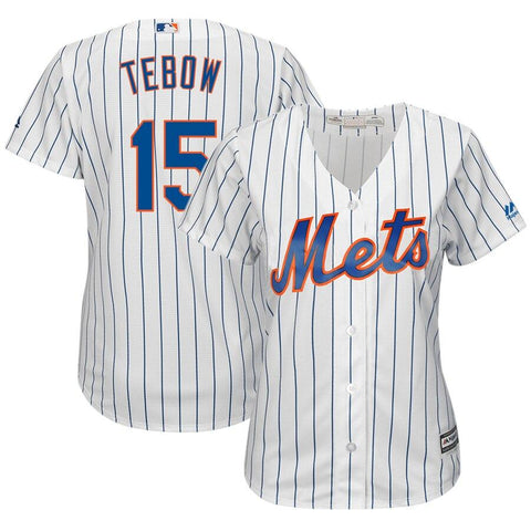 Tim Tebow New York Mets Majestic Women's Home Cool Base Player Replica Jersey White