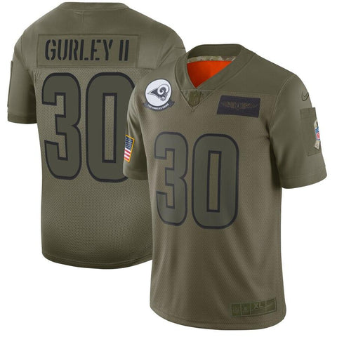 Todd Gurley II Los Angeles Rams Nike 2019 Salute to Service Limited Jersey Olive