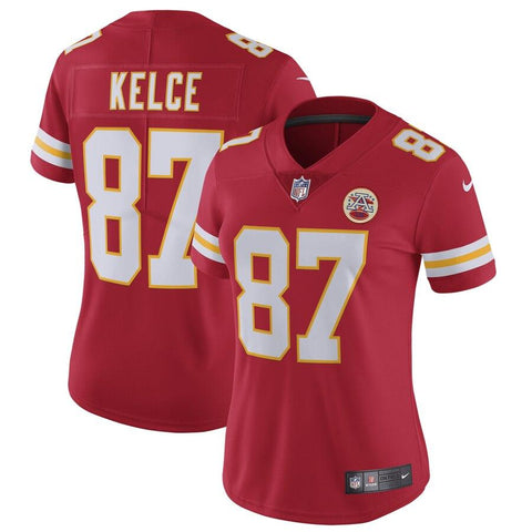 Women's Travis Kelce Kansas City Chiefs Nike Vapor Untouchable Limited Jersey Red