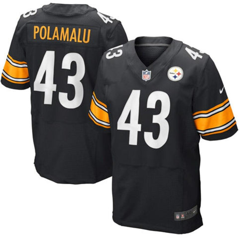 Troy Polamalu Pittsburgh Steelers Nike Elite Jersey Black