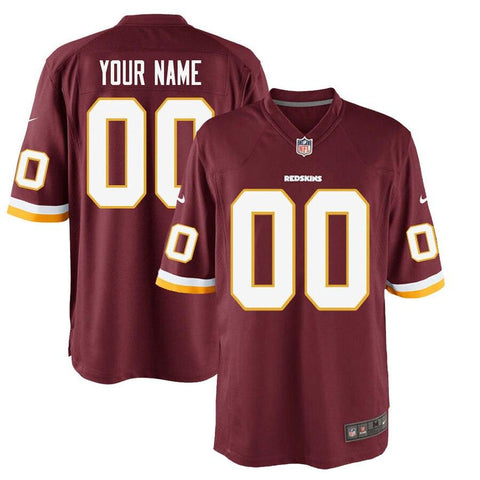 WashingtonRedskins Nike Custom Game Jersey Burgundy