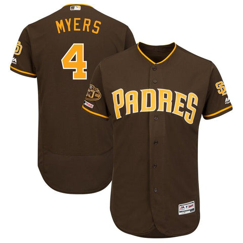 Wil Meyers San Diego Padres Majestic 50th Anniversary Alternate Flex Base Player Jersey Brown