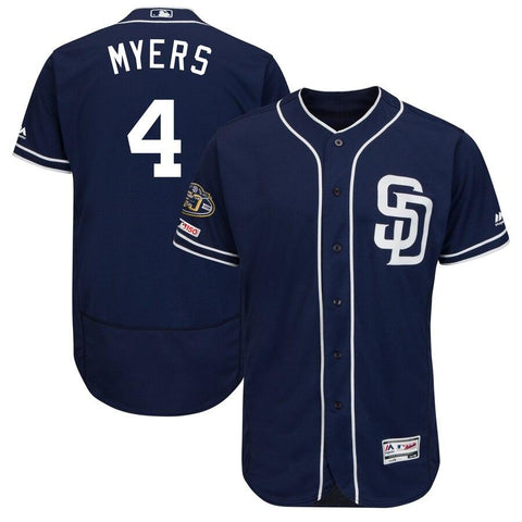 Wil Meyers San Diego Padres Majestic 50th Anniversary Alternate Flex Base Player Jersey Navy