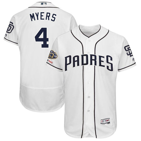 Wil Meyers San Diego Padres Majestic 50th Anniversary Home Flex Base Player Jersey White