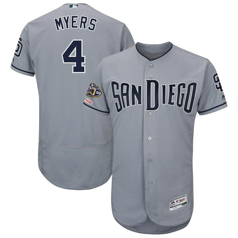 Wil Meyers San Diego Padres Majestic 50th Anniversary Road Flex Base Player Jersey Gray