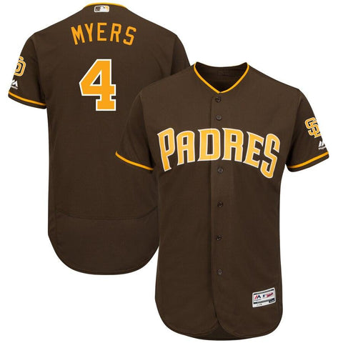 Wil Myers San Diego Padres Majestic Alternate Authentic Collection Flex Base Player Jersey Brown