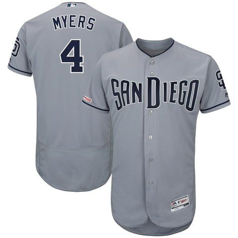 Wil Myers San Diego Padres Majestic Road Authentic Collection Flex Base Player Jersey Gray