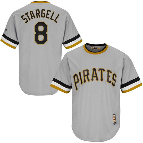 Willie Stargell Pittsburgh Pirates Majestic Cool Base Cooperstown Collection Player Jersey Gray