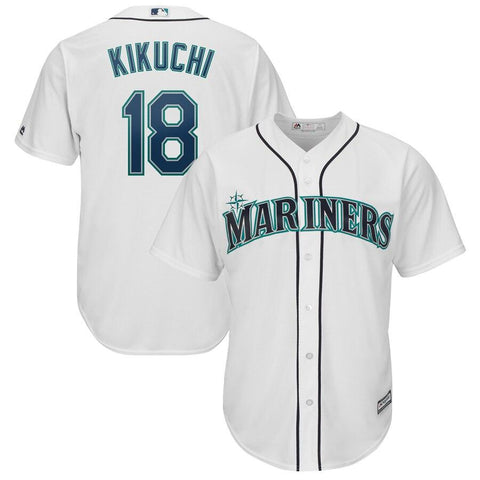 Yusei Kikuchi Seattle Mariners Majestic Official Cool Base Player Jersey White