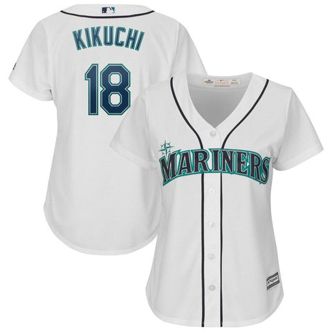 Yusei Kikuchi Seattle Mariners Majestic Women's Cool Base Player Jersey White