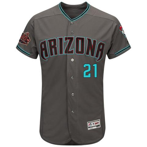 Zack Greinke Arizona Diamondbacks Alternate 20th Anniversary Player Jersey GrayTeal