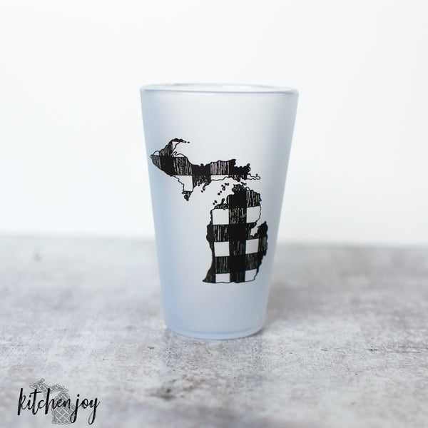 Michigan Mitten Buffalo Plaid Silipint® Tumbler