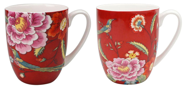 Asian Pheasant Mug Pair