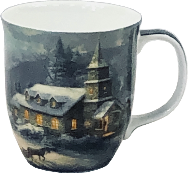 Kinkade Sunday Evening Sleigh Ride Java Mug