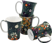 Load image into Gallery viewer, Klimt Flower Garden Set of 4 Mugs