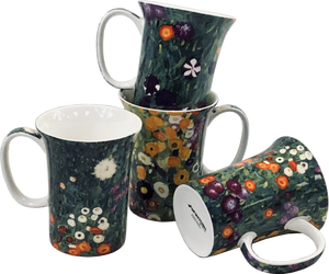 Klimt Flower Garden Set of 4 Mugs