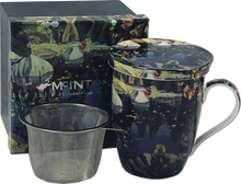 Load image into Gallery viewer, Lismer Lily Pond, Georgian Bay Tea Mug w/ Infuser and Lid
