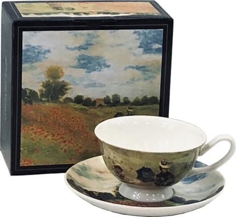 Monet Poppies Cup & Saucer