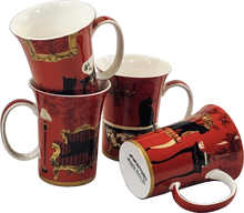 Load image into Gallery viewer, Mystical & Curious Cats Mug Set of 4