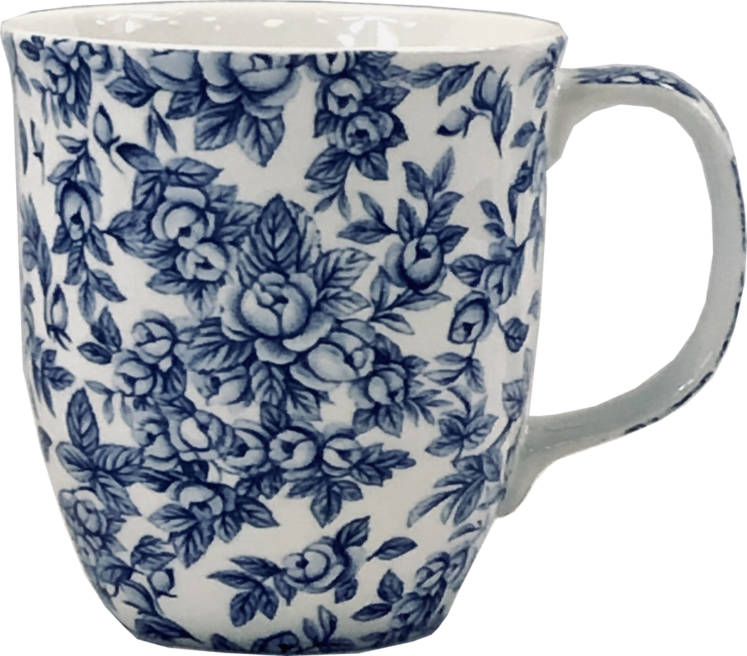 Pretty Chintzy Light Blue Roses Java Mug