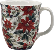 Load image into Gallery viewer, Pretty Chintzy Poinsettia Java Mug